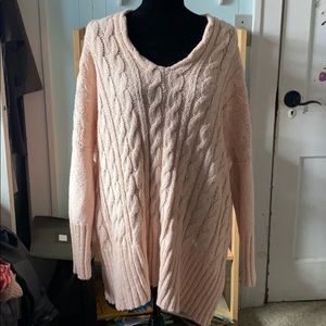 Free people oversized knit high low sweater tunic